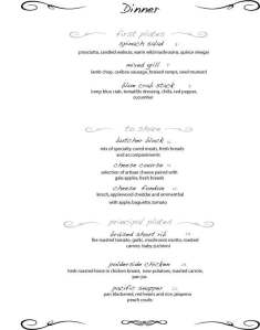 Two Chefs Dinner Menu April 23rd
